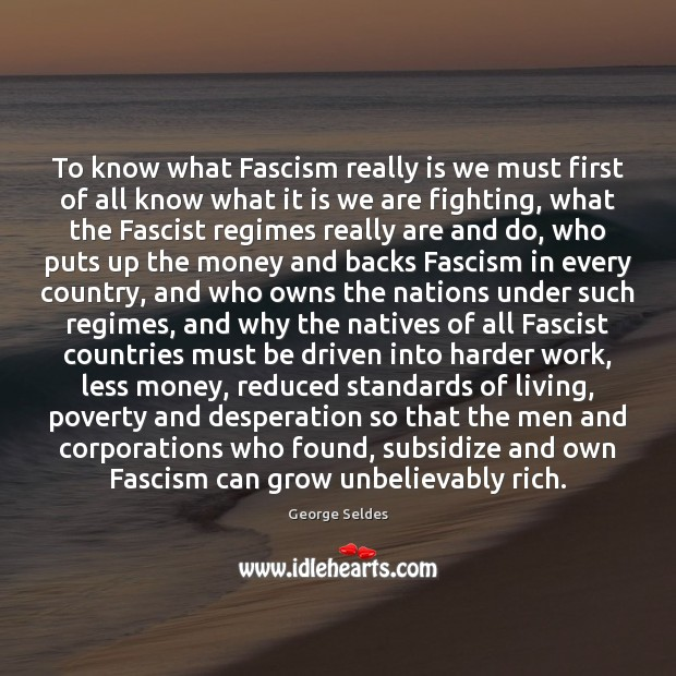 Image, To know what Fascism really is we must first of all know