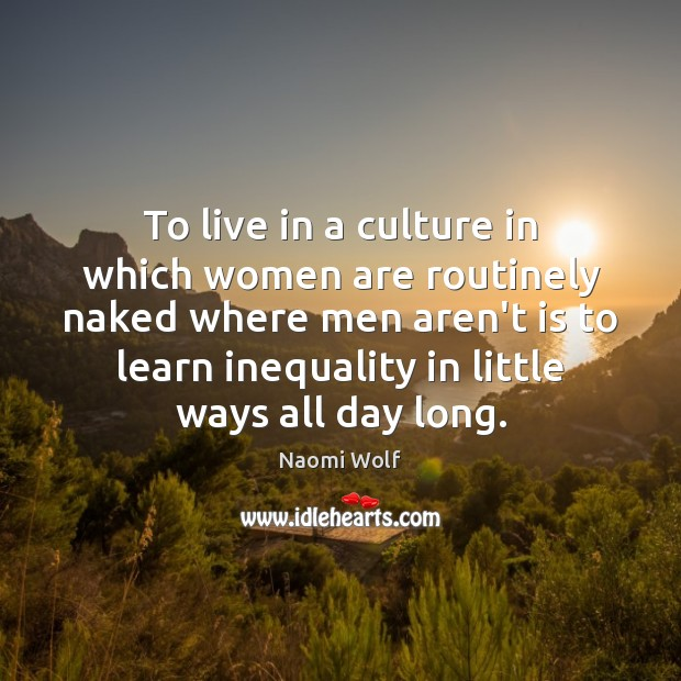 Image, To live in a culture in which women are routinely naked where