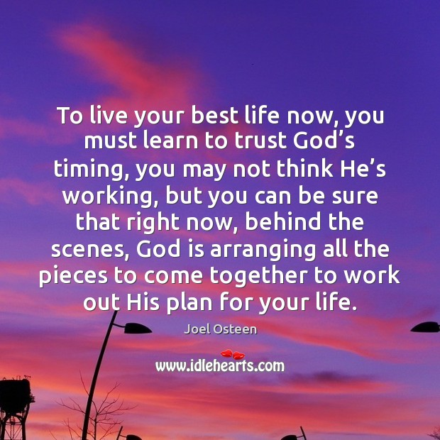 Image, To live your best life now, you must learn to trust God'