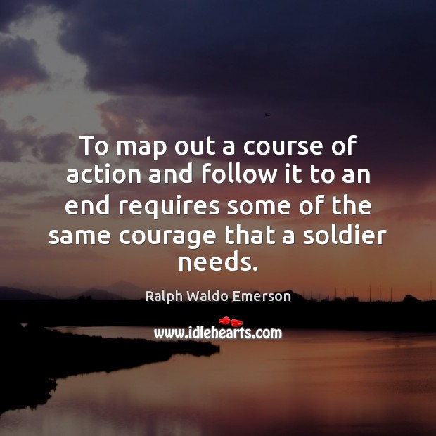 To map out a course of action and follow it to an Image