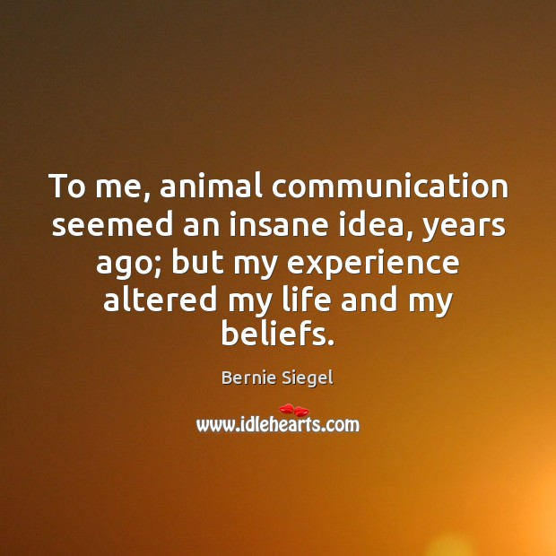 Image, To me, animal communication seemed an insane idea, years ago; but my