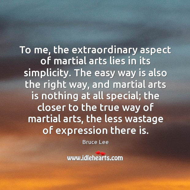 Image, To me, the extraordinary aspect of martial arts lies in its simplicity.