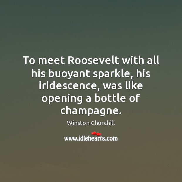Image, To meet Roosevelt with all his buoyant sparkle, his iridescence, was like