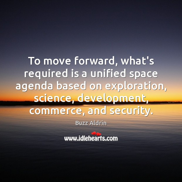 To move forward, what's required is a unified space agenda based on Image