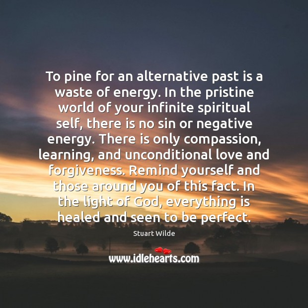 To pine for an alternative past is a waste of energy. In Unconditional Love Quotes Image