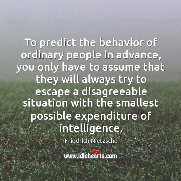 Image, To predict the behavior of ordinary people in advance, you only have