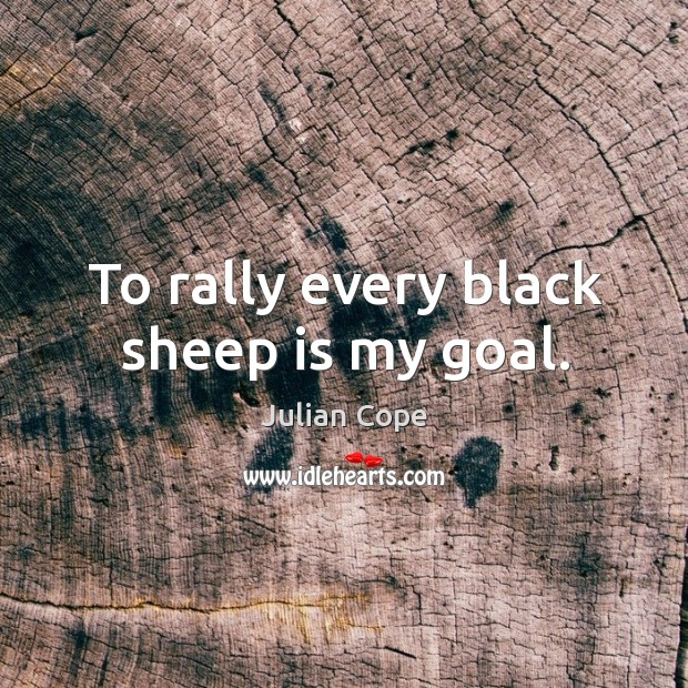 Image, To rally every black sheep is my goal.