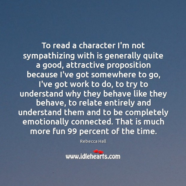 To read a character I'm not sympathizing with is generally quite a Image