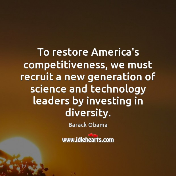 Image, To restore America's competitiveness, we must recruit a new generation of science