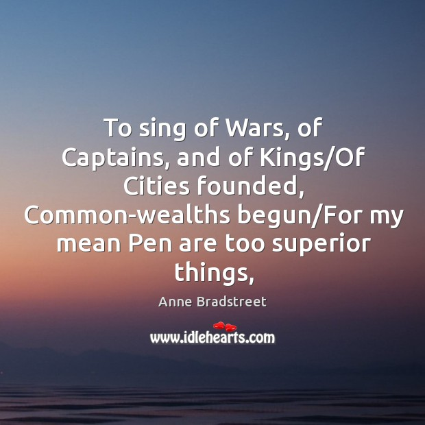 Image, To sing of Wars, of Captains, and of Kings/Of Cities founded,