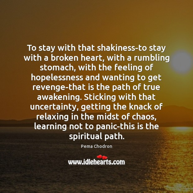 Image, To stay with that shakiness-to stay with a broken heart, with a