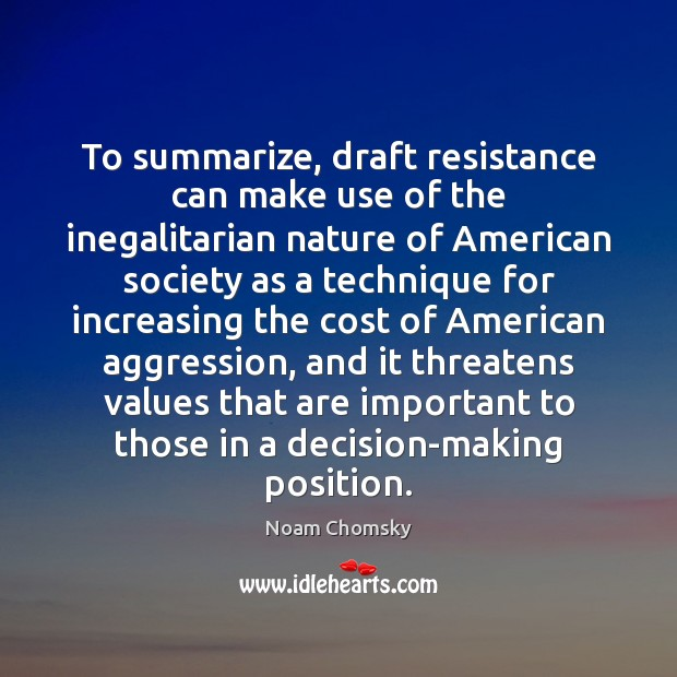 Image, To summarize, draft resistance can make use of the inegalitarian nature of