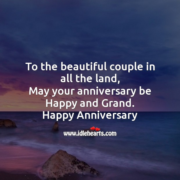 Image, To the beautiful couple in all the land