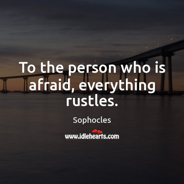To the person who is afraid, everything rustles. Image