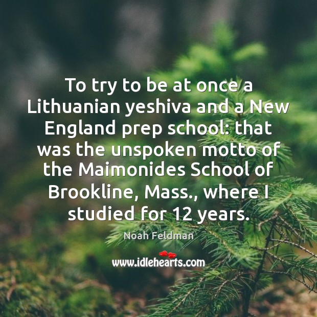 Image, To try to be at once a Lithuanian yeshiva and a New