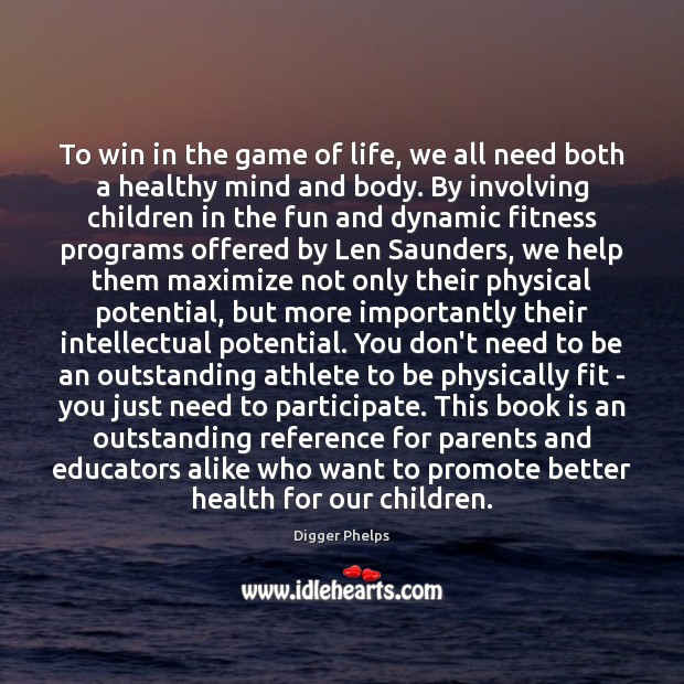 To win in the game of life, we all need both a Image