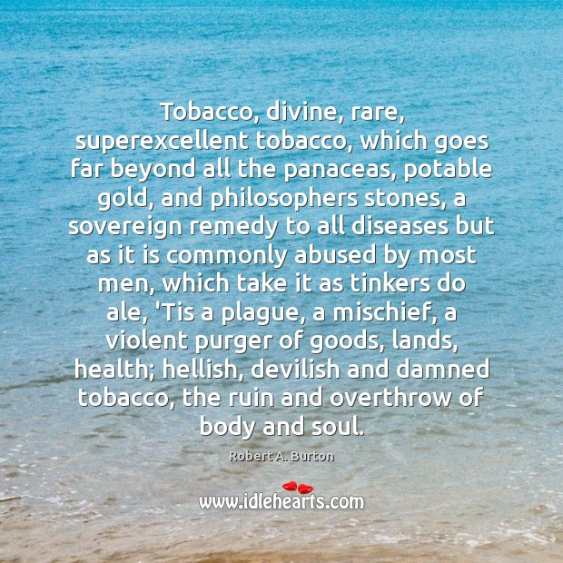 Image, Tobacco, divine, rare, superexcellent tobacco, which goes far beyond all the panaceas,