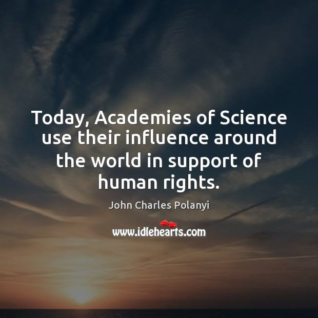 Image, Today, Academies of Science use their influence around the world in support
