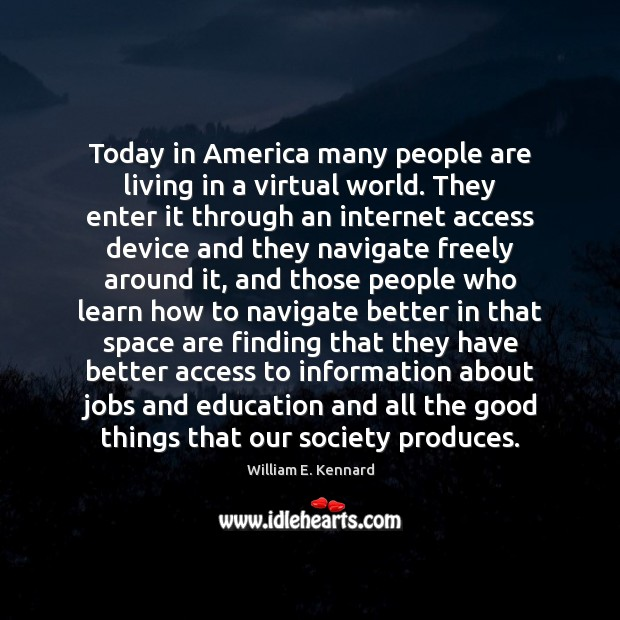 Image, Today in America many people are living in a virtual world. They