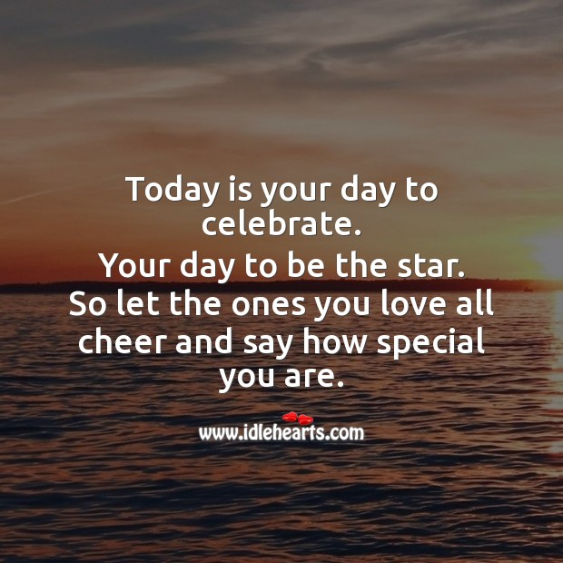 Today is your day to celebrate. Happy Birthday! Celebrate Quotes Image