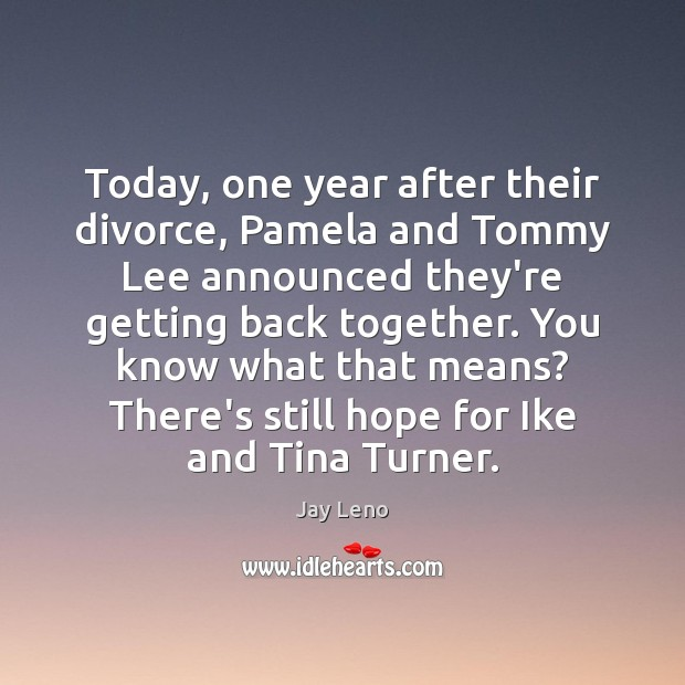 Image, Today, one year after their divorce, Pamela and Tommy Lee announced they're