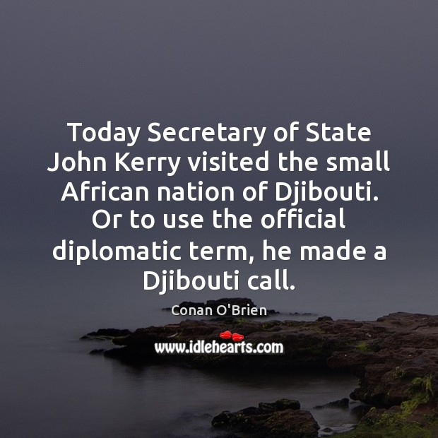 Today Secretary of State John Kerry visited the small African nation of Image