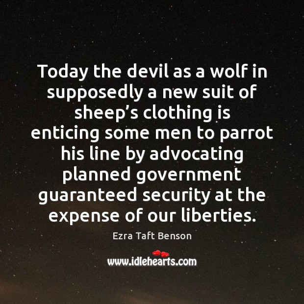 Image, Today the devil as a wolf in supposedly a new suit of
