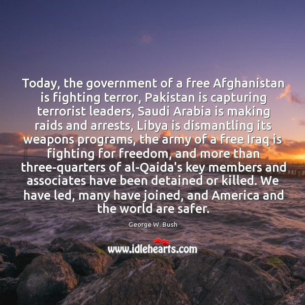 Image, Today, the government of a free Afghanistan is fighting terror, Pakistan is