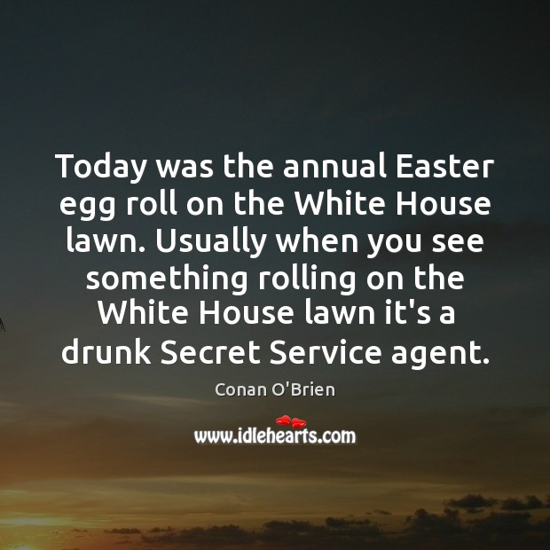 Image, Today was the annual Easter egg roll on the White House lawn.