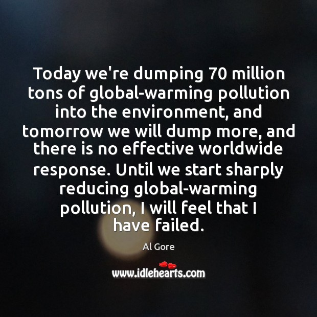 Image, Today we're dumping 70 million tons of global-warming pollution into the environment, and