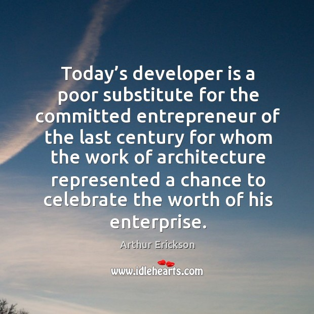 Image, Today's developer is a poor substitute for the committed entrepreneur