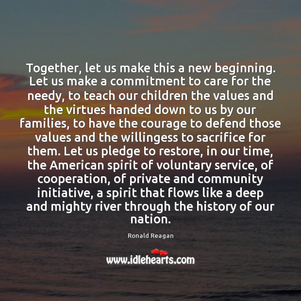 Image, Together, let us make this a new beginning. Let us make a