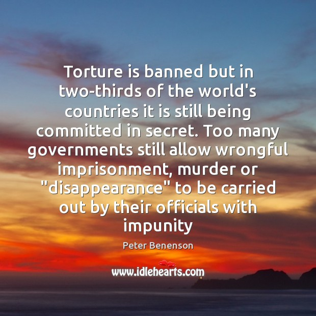 Torture is banned but in two-thirds of the world's countries it is Image