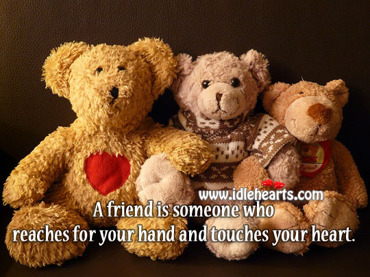 A friend is someone who touches your heart. Image