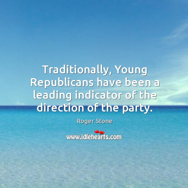 Traditionally, young republicans have been a leading indicator of the direction of the party. Image