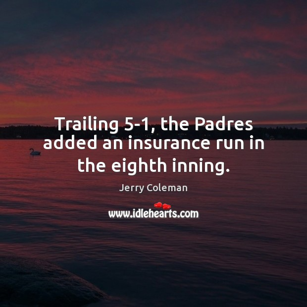 Trailing 5-1, the Padres added an insurance run in the eighth inning. Image