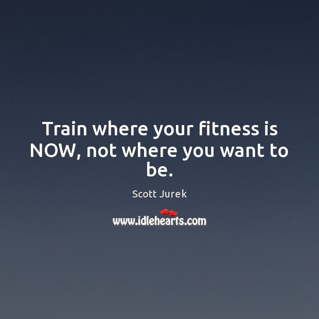 Train where your fitness is NOW, not where you want to be. Image