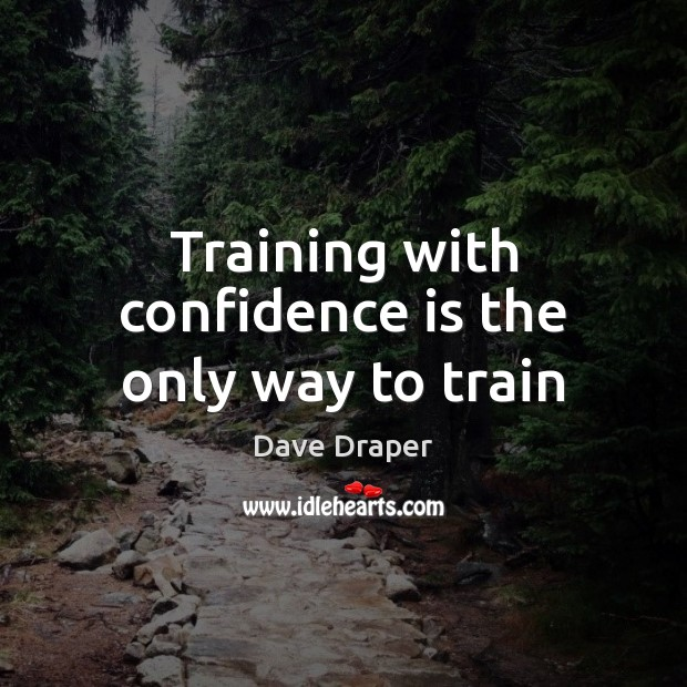 Training with confidence is the only way to train Image