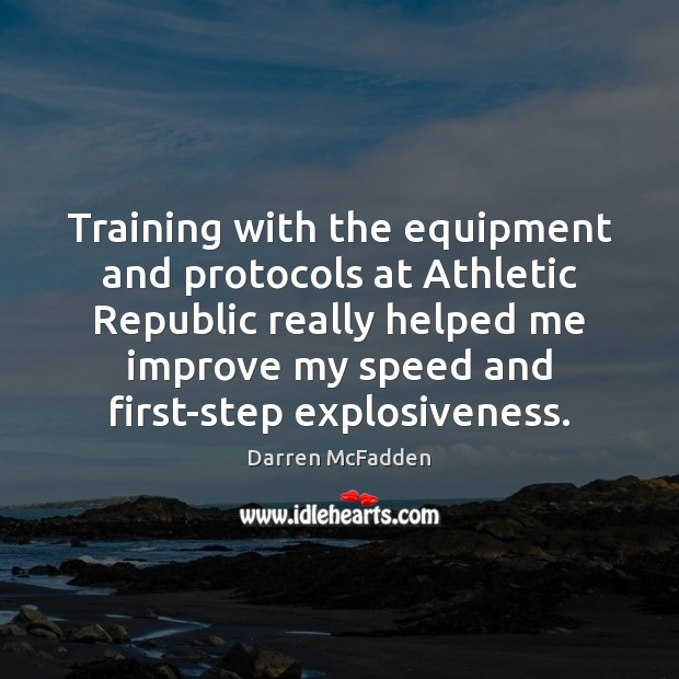 Training with the equipment and protocols at Athletic Republic really helped me Image