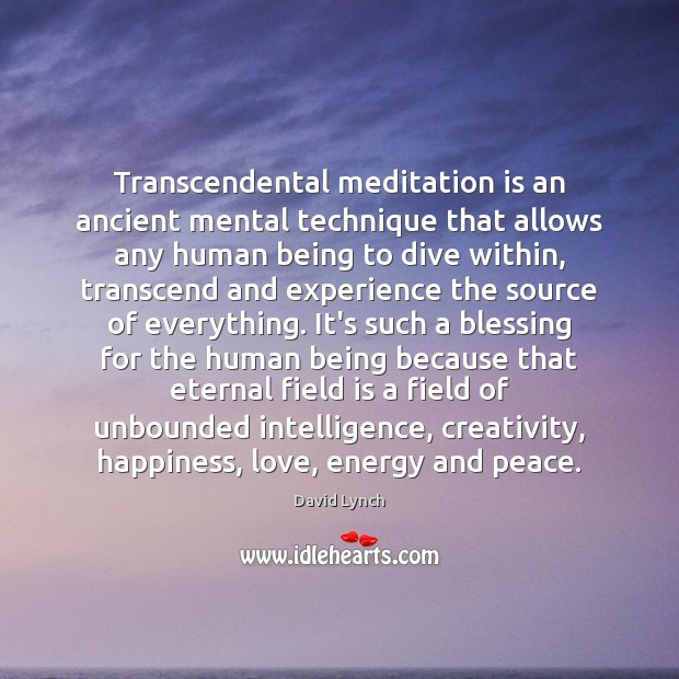 Image, Transcendental meditation is an ancient mental technique that allows any human being