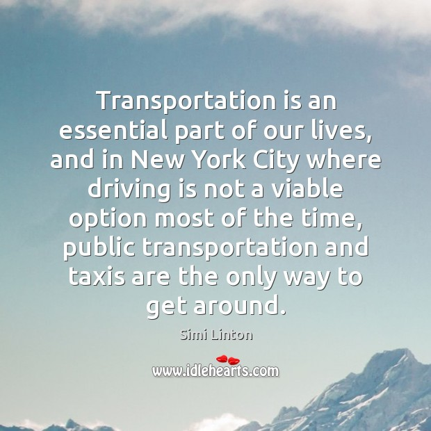 Image, Transportation is an essential part of our lives, and in New York