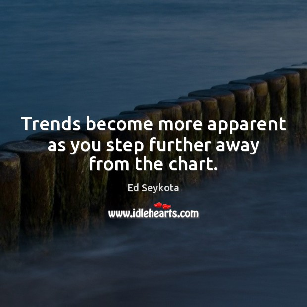 Trends become more apparent as you step further away from the chart. Ed Seykota Picture Quote