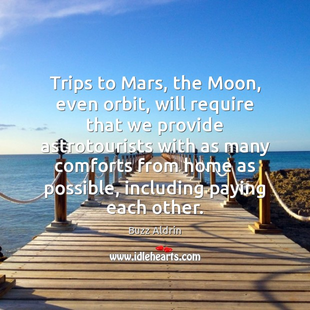 Trips to Mars, the Moon, even orbit, will require that we provide Image