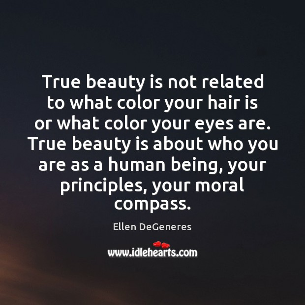 Image, True beauty is not related to what color your hair is or