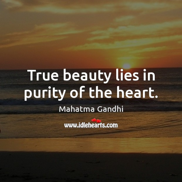 Image, True beauty lies in purity of the heart.