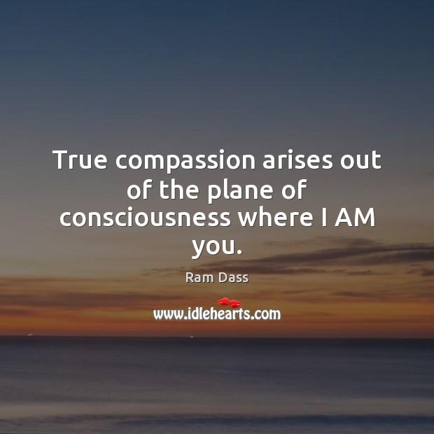 True compassion arises out of the plane of consciousness where I AM you. Image