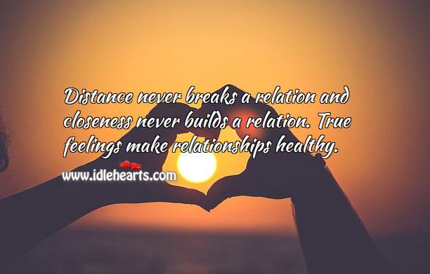 Image, True feelings make relationships.