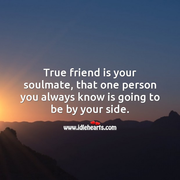 True friend is your soulmate. Image