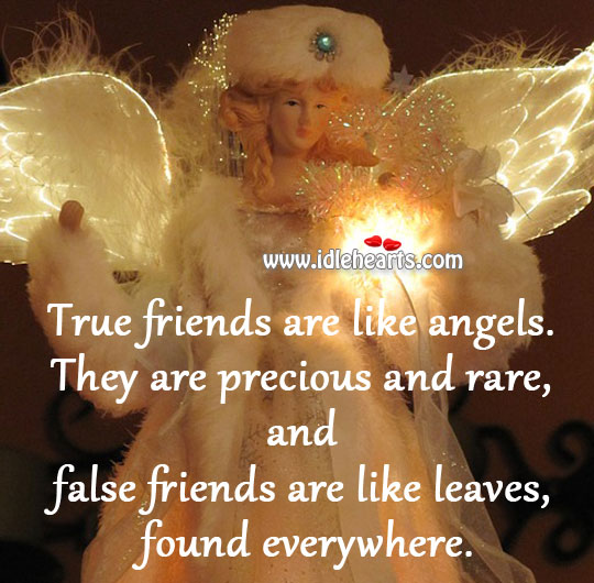 True friends are like angels. Image