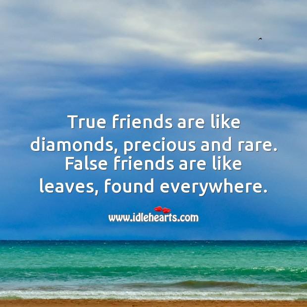 Image, True friends are like diamonds, precious and rare.